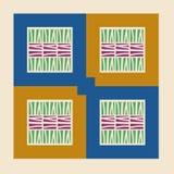 wszystkie 3 tło zmian kolor łatwo warstwa schematu geometryczny tło wzór w wektorze Moda druku tapetowy pastel barwiący projekt E Ilustracja Wektor
