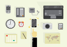 Wszystkie technologia w jeden Zdjęcia Stock
