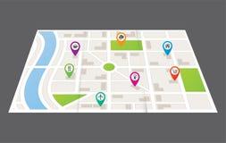 wszystkie zmiany kolorów tła miasta elementów akta łatwe kartografują select bezszwowa warstw oddzielonych próbki wektorowych Zdjęcia Royalty Free
