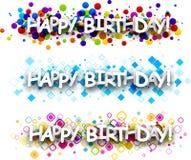 Wszystkiego najlepszego z okazji urodzin colour sztandary Obrazy Stock