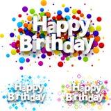 Wszystkiego najlepszego z okazji urodzin colour tła ilustracji