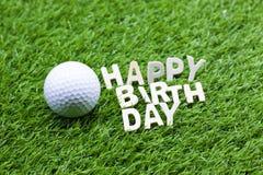 Wszystkiego najlepszego z okazji urodzin golfista obraz stock