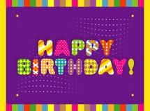 Wszystkiego najlepszego z okazji urodzin karta Zdjęcie Royalty Free