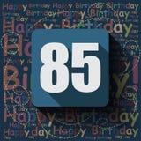 85 wszystkiego najlepszego z okazji urodzin karta lub tło ilustracji