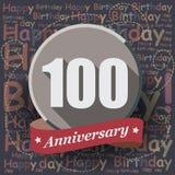 100 wszystkiego najlepszego z okazji urodzin karta lub tło Obrazy Royalty Free