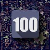 100 wszystkiego najlepszego z okazji urodzin karta lub tło Zdjęcia Stock