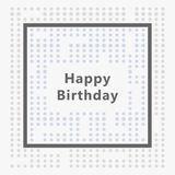 Wszystkiego najlepszego z okazji urodzin karta, minimalistyczny projekt zdjęcia stock