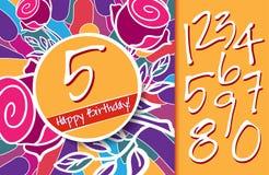 Wszystkiego Najlepszego Z Okazji Urodzin karta z lub tło royalty ilustracja