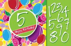 Wszystkiego Najlepszego Z Okazji Urodzin karta z lub tło ilustracja wektor
