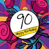 100 wszystkiego najlepszego z okazji urodzin karta z lub tło Fotografia Royalty Free