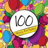100 wszystkiego najlepszego z okazji urodzin karta z lub tło Zdjęcie Royalty Free