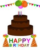 Wszystkiego najlepszego z okazji urodzin kartka z pozdrowieniami kolorowy wektor ilustracja wektor