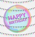 Wszystkiego Najlepszego Z Okazji Urodzin, kartka z pozdrowieniami, wektorowa ilustracja Partyjny invit Zdjęcia Royalty Free