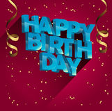 Wszystkiego najlepszego z okazji urodzin kartka z pozdrowieniami wektorowy projekt dla zaproszeń i świętowania Zdjęcie Stock