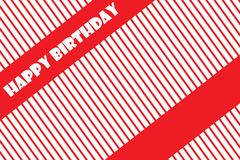 Wszystkiego Najlepszego Z Okazji Urodzin kartka z pozdrowieniami wektoru EPS 10 ilustracja Obrazy Stock