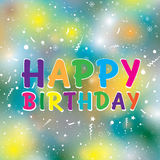 Wszystkiego najlepszego z okazji urodzin na kolorowym tle szczęśliwy urodziny Zdjęcie Stock