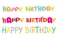 Wszystkiego najlepszego z okazji urodzin pisze list kolorowego wektorowego illustrat Obraz Royalty Free