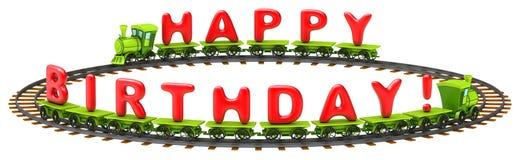 Wszystkiego najlepszego z okazji urodzin pociąg Zdjęcie Stock