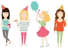 Wszystkiego Najlepszego Z Okazji Urodzin przyjęcie ilustracja wektor