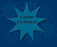 Wszystkiego najlepszego z okazji urodzin retro ilustracja Obrazy Royalty Free
