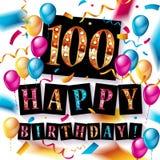 Wszystkiego najlepszego z okazji urodzin 100 rok rocznicowych Zdjęcie Royalty Free