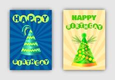 Wszystkiego Najlepszego Z Okazji Urodzin sztandar Ustawiająca Wektorowa ilustracja royalty ilustracja