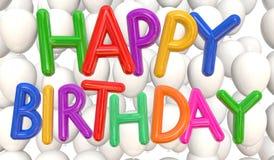 Wszystkiego najlepszego z okazji urodzin szybko się zwiększać multicolor Obrazy Stock