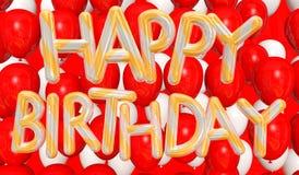 Wszystkiego najlepszego z okazji urodzin szybko się zwiększać złoto i srebro Obrazy Stock