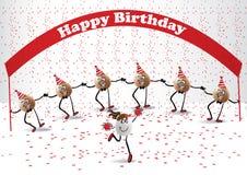 Wszystkiego najlepszego z okazji urodzin taniec Royalty Ilustracja
