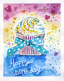 Wszystkiego najlepszego z okazji urodzin tort Zdjęcia Royalty Free