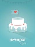 Wszystkiego najlepszego z okazji urodzin, tort Zdjęcie Stock
