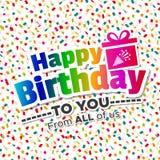 Wszystkiego Najlepszego Z Okazji Urodzin ty od wszystko my Karciani Eps10 Wektor ilustracji