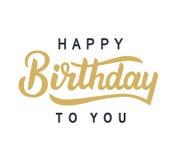 Wszystkiego Najlepszego Z Okazji Urodzin Ty typografia plakat Fotografia Stock