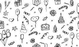 Wszystkiego Najlepszego Z Okazji Urodzin wektoru wzór Zdjęcia Royalty Free