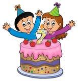 Wszystkiego najlepszego z okazji urodzin wizerunek dla 7 lat Zdjęcie Stock
