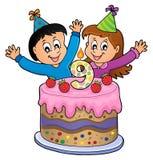 Wszystkiego najlepszego z okazji urodzin wizerunek dla 9 lat Zdjęcia Royalty Free