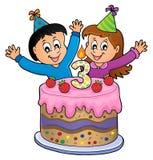 Wszystkiego najlepszego z okazji urodzin wizerunek dla 3 lat Fotografia Stock