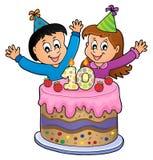 Wszystkiego najlepszego z okazji urodzin wizerunek dla 10 lat Fotografia Royalty Free