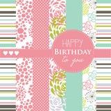 Wszystkiego najlepszego z okazji urodzin wzór i Fotografia Royalty Free