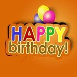 Wszystkiego najlepszego z okazji urodzin z balonami Obraz Stock