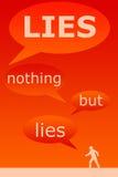 Wszystko kłama royalty ilustracja