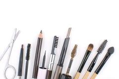 Wszystko o brwi makeup narzędziach Fotografia Royalty Free
