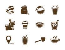 Wszystko o sklep z kawą Obrazy Stock