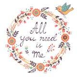 Wszystko Ty potrzebujesz jest Ja miłości pojęcie ilustracji