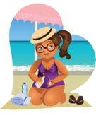 Wszystko ty potrzebujesz na plaży Zdjęcie Royalty Free
