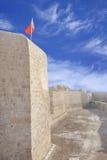 wszystko wokoło Bahrain kanał kopiącej fortu ochrony Zdjęcie Royalty Free