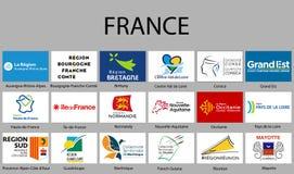 wszystko Zaznacza regiony Francja ilustracja wektor