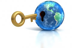 wszywki klucza świat Obrazy Stock