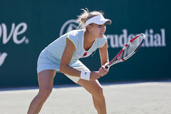 WTA:  Apr 08 Family Circle Cup. CHARESTON, SC - APR 08, 2011:  Elena Vesnina (RUS) plays against Samantha, Stosur (AUS) during the  Family Circle Tennis Center Stock Photo