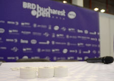 WTA Bucharest Open draw. WTA BRD Bucharest Open official main table draw held at BNR Arenas from Bucharest Royalty Free Stock Photography